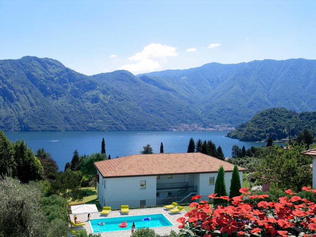 vista lago Como.