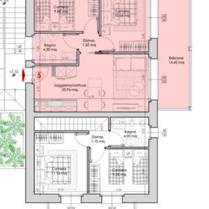 Appartamento 5-pianta.