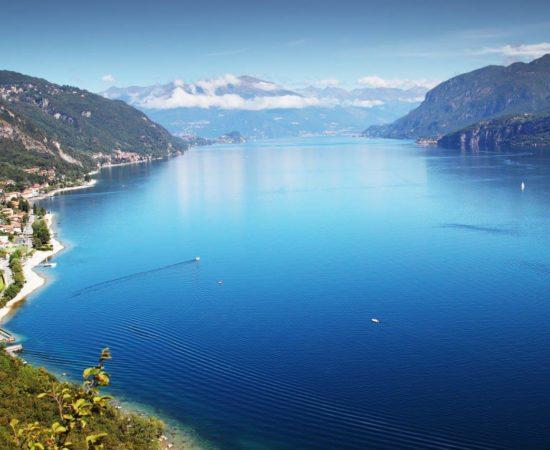 Lago di Como, foto aerea